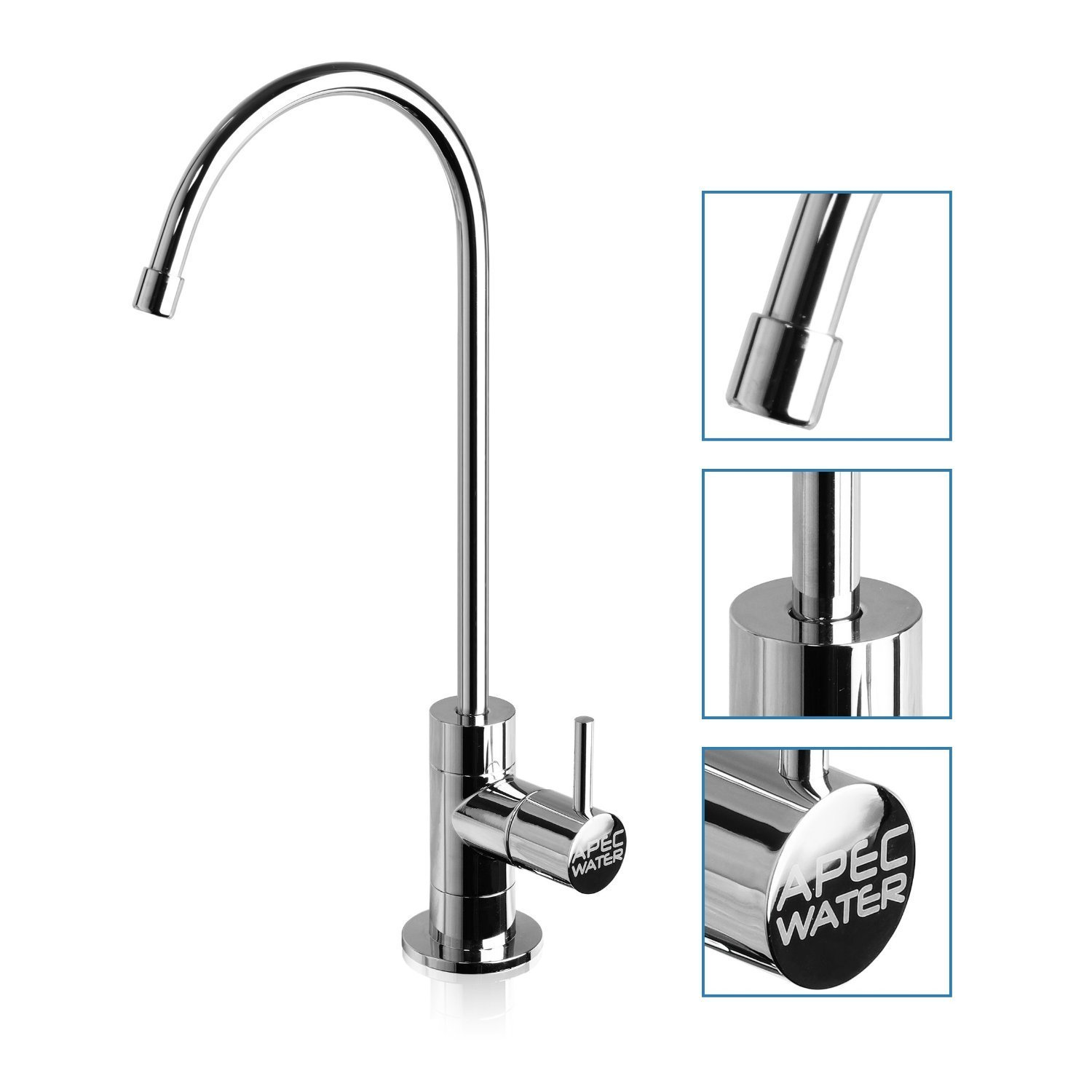 APEC Water Systems ROES-PH75 Top Tier, silver colored, white